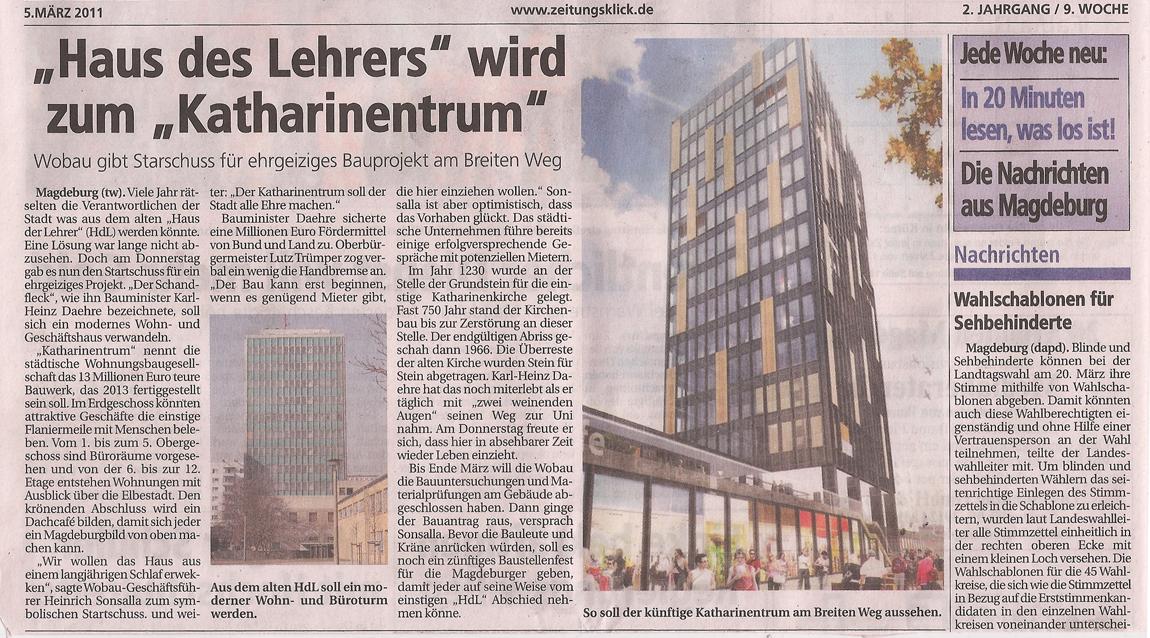 Magdeburger Sonntag - HDL zu Katharinenturm