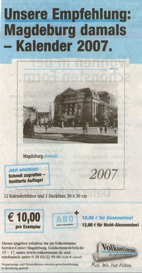 Kalender 2007 in der Volksstimme