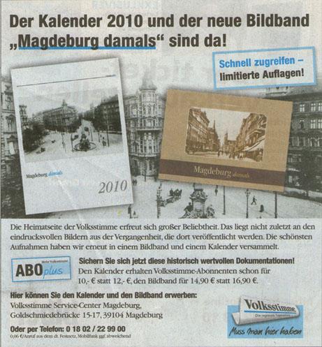 Kalender 2010 in der Volksstimme