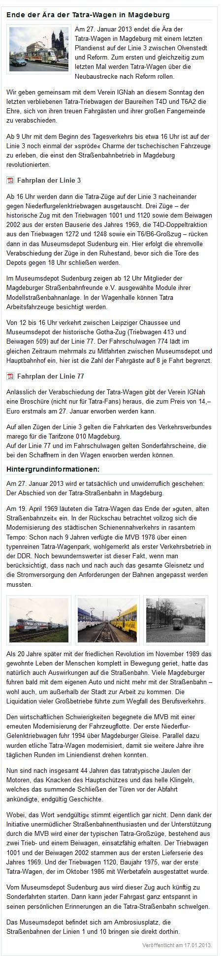 http://www.mvbnet.de/ende-der-aera-der-tatra-wagen-in-magdeburg/