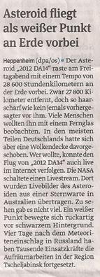 asteroid_18_2_2013_volksstimme_kl